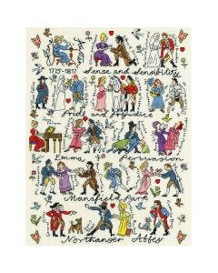 Jane Austen Counted Cross Stitch Kit