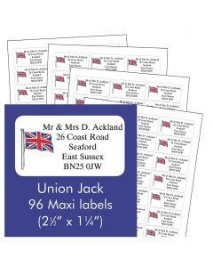 Union Jack Address Labels