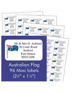 Australian Flag Address Labels