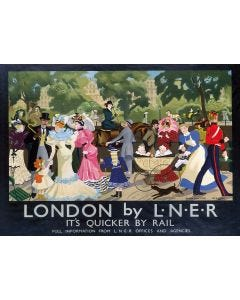Railway Poster Jigsaw - London's Hyde Park in Victorian Times