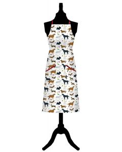 Dog Breeds Cotton Apron