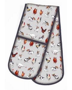 Farmyard Frolics Double Oven Glove
