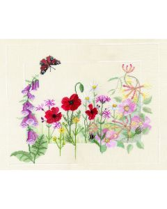 Wild Flowers Counted Cross Stitch Kit