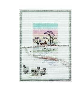 Snowy Sheep Counted Cross-Stitch Kit
