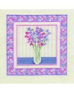 Sweetpea Counted Cross Stitch Kit