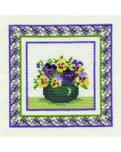 Pansies Counted Cross Stitch Kit