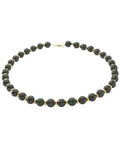 BNWT Womens Semi-Precious Midnight Facetted Black Onyx 45cm Necklace