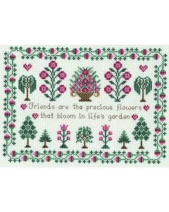 Friends Sampler Counted Cross-Stitch Kit