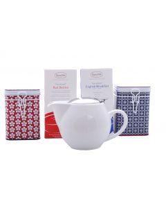 White Zaara Teabag and Tin Set