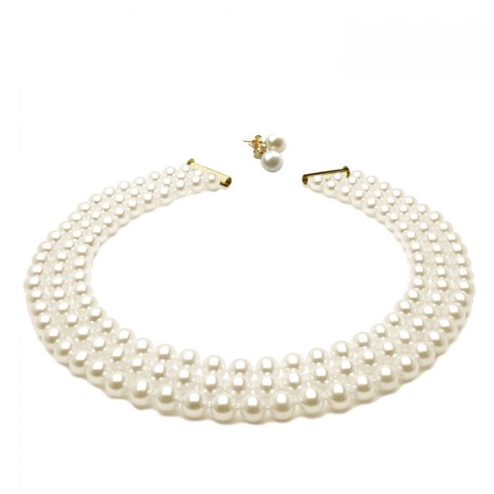 a007aea6bc688 Imperial Pearl Necklace and Pearl Earrings Set