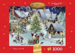 Village On The Hill Jigsaw Puzzle