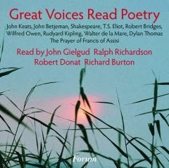 Great Voices Read Poetry CD