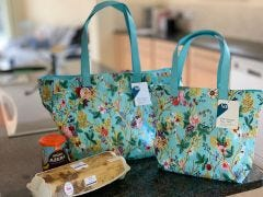Blue Chintz Large PVC Shopper Bag