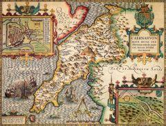 Caernarfonshire Historical Map 1000 Piece Jigsaw Puzzle (1610)