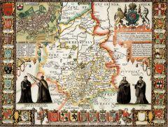 Cambridgeshire Historical Map 1000 Piece Jigsaw Puzzle (1610)