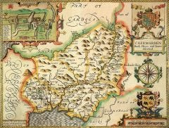 Carmarthenshire Historical Map 1000 Piece Jigsaw Puzzle (1610)