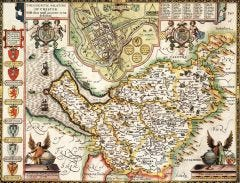 Cheshire Historical Map 1000 Piece Jigsaw Puzzle (1610)