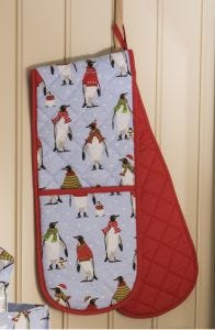 Cosy Penguins Double Oven Glove