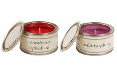 Cranberry Spiced Tea and Wild Raspberry Candle Pack