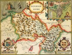 Denbighshire Historical Map 1000 Piece Jigsaw Puzzle (1610)