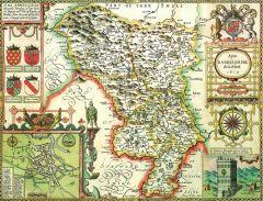 Derbyshire Historical Map 1000 Piece Jigsaw Puzzle (1610)