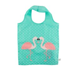 Tropical Flamingo Foldable Shopping Bag