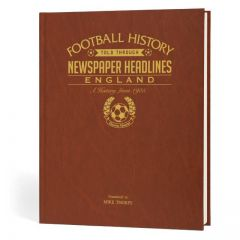 Personalised England Football Newspaper Book