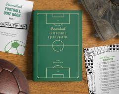 Personalised Football Quiz Book