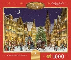 German Town At Christmas Jigsaw Puzzle