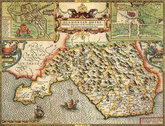 Glamorgan Historical Map 1000 Piece Jigsaw Puzzle (1610)
