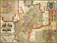 Gloucestershire Historical Map 1000 Piece Jigsaw Puzzle (1610)
