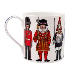 British Figures Mug with Great  Britain Handle