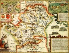 Hertfordshire Historical Map 1000 Piece Jigsaw Puzzle (1610)