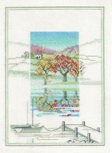BNWT Counted Cross Stitch Embroidery Kit The Boat Landings by Stitchkits
