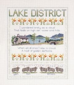 BNWT Counted Cross Stitch  Embroidery Kit Lake District Sampler by Stitchkits