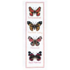 Butterflies Counted Cross Stitch Panel