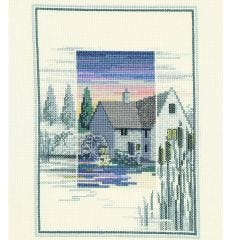 Sunset The Old Bridge Counted Cross-Stitch