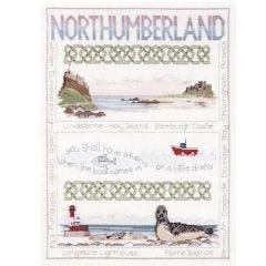 Counted Cross Stitch Embroidery Kit Northumberland Sampler by Rose Swalwell