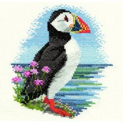 Puffin Counted Cross-Stitch Picture Kit