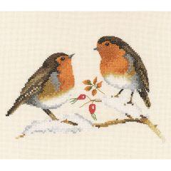 Chatty Robins: Counted Cross Stitch