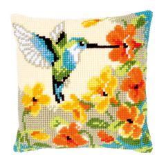 Hummingbird Dream Cross Stitch Cushion Kit