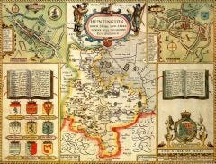 Huntingdonshire Historical Map 1000 Piece Jigsaw Puzzle (1610)