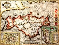 Isle of Wight Historical Map 1000 Piece Jigsaw Puzzle (1610)