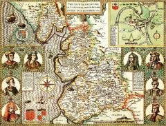 Lancashire Historical Map 1000 Piece Jigsaw Puzzle (1610)