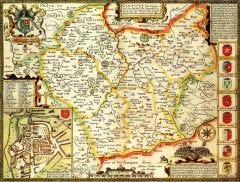 Leicestershire Historical Map 1000 Piece Jigsaw Puzzle (1610)