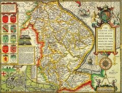 Lincolnshire Historical Map 1000 Piece Jigsaw Puzzle (1610)