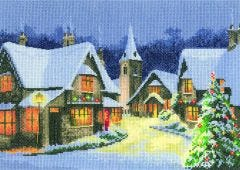 Christmas Village Counted Cross-Stitch Kit