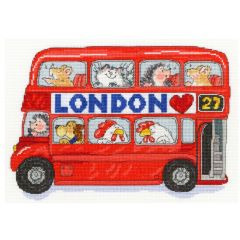 Margaret Sherry Counted Cross Stitch Kit: London Bus