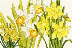Daffodils Cross Stitch Kit