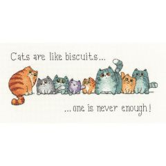 Counted Cross Stitch Kit: Cats Are Like Biscuits